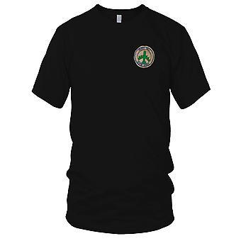 USAF vrede hel bom Hanoi B-52 - Hand genaaid Vietnamoorlog geborduurde Patch - Mens T Shirt