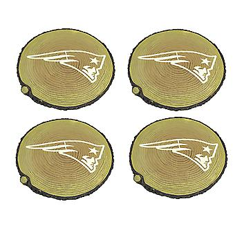 New England Patriots Set of 4 Glow In the Dark Tree Stump Stepping Stones