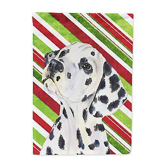 Carolines Treasures  SS4561-FLAG-PARENT Dalmatian Candy Cane Holiday Christmas F