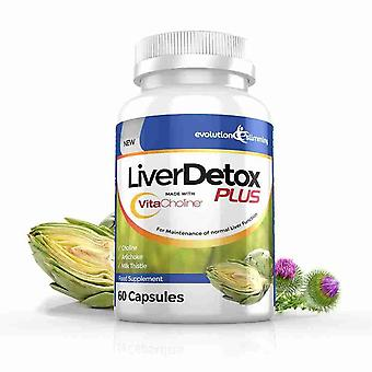 LiverDetox Plus with VitaCholine™ for Liver Health - 1 Month Supply (60 Capsules) - Liver Health and Detox - Evolution Slimming