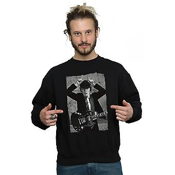 AC/DC Men's Angus Young Distressed Photo Sweatshirt