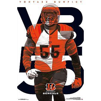 Cincinnati Bengals - impresión del cartel de Vontaze Burfict