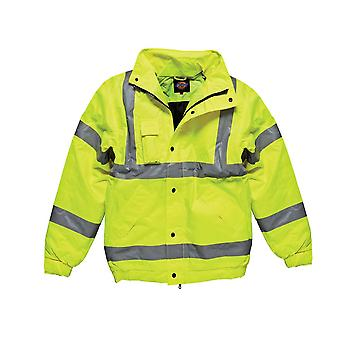 Dickies miesten työvaatteet Hei Vis Bomber takki keltainen SA22050Y
