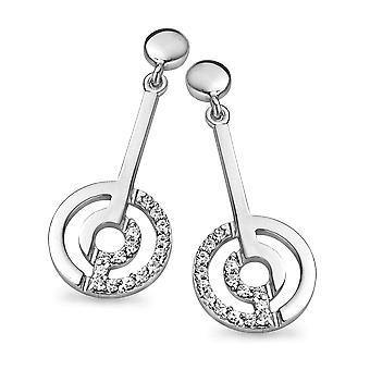 Orphelia Silver 925 Drop Earring Rounds Zirconium   ZO-5078