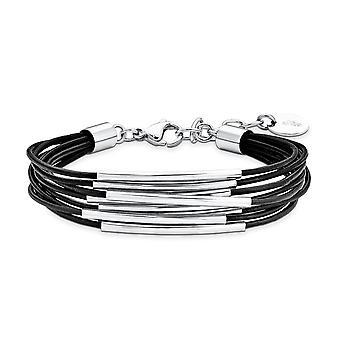 s.Oliver Jewel Damen Armband Armkette Edelstahl Leder SO1251/1  9078356