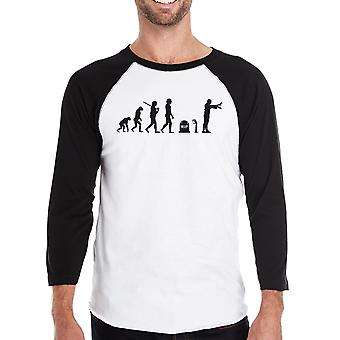 Zombie Evolution Mens grafisk Baseball Tee Zombie Raglan tröja gåva