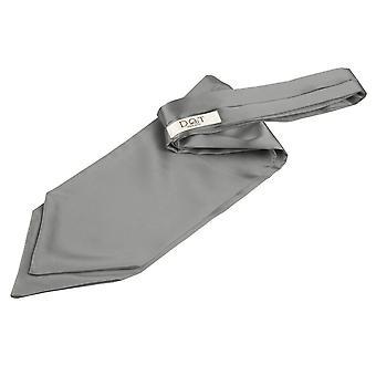 Platinum Plain Satin binden zelf bruiloft Cravat