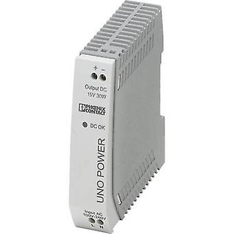 فينيكس الاتصال UNO-PS/1AC/15DC/30W السكك الحديدية التي شنت PSU (DIN) 15 V DC 2 A 30 W 1 x