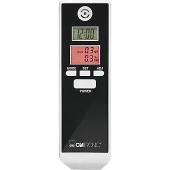 Clatronic AT 3605 Breathalyser White, Black 0.0 up to 1.9 ‰ Incl. display, Selectable SI units, Clock, Temperature display, Countdown function