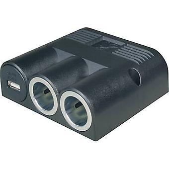 ProCar 67334501 67334500 In-car 12V splitter No. of 12V connectors 2 x Interfaces: USB 1 x Max. load capacity 16 A