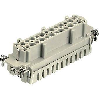 Harting 09 33 024 2716 socket inzet Han® E 24 + PE veerbelaste 1 PC (s)