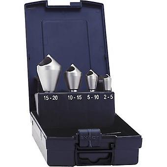 Exact 05426 Diagonal hole countersink set 4-piece 10 mm, 14 mm, 21 mm, 28 mm HSS-E Cylinder shank 1 Set