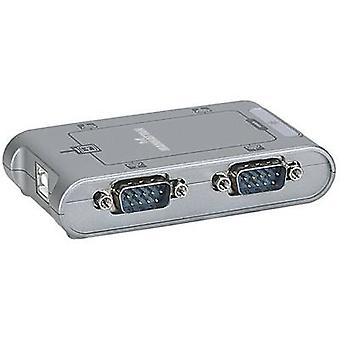 Manhattan USB 2,0 adaptér [4x D-SUB-plug 9-PIN-1x USB 2,0 port B] 151047
