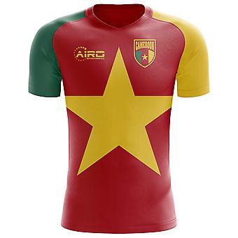 2018-2019 Kamerunin lippu käsite jalkapallopaita (lasten)