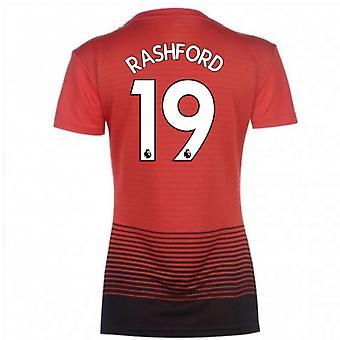 2018-2019 مان يونايتد أديداس النسائية الرئيسية قميص (راشفورد 19)