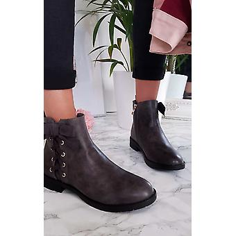 IKRUSH Womens Teegan Schnürschuh Detail Knöchel Stiefel