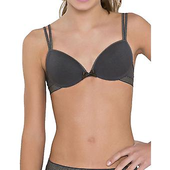 Boobs & Bloomers 30.04.0040-092 Girl's Anny Dark Grey Spotted Non-Wired Padded Bra