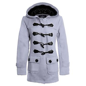 Новые женские Duffle траншею карманные дамы пальто жакет с капюшоном