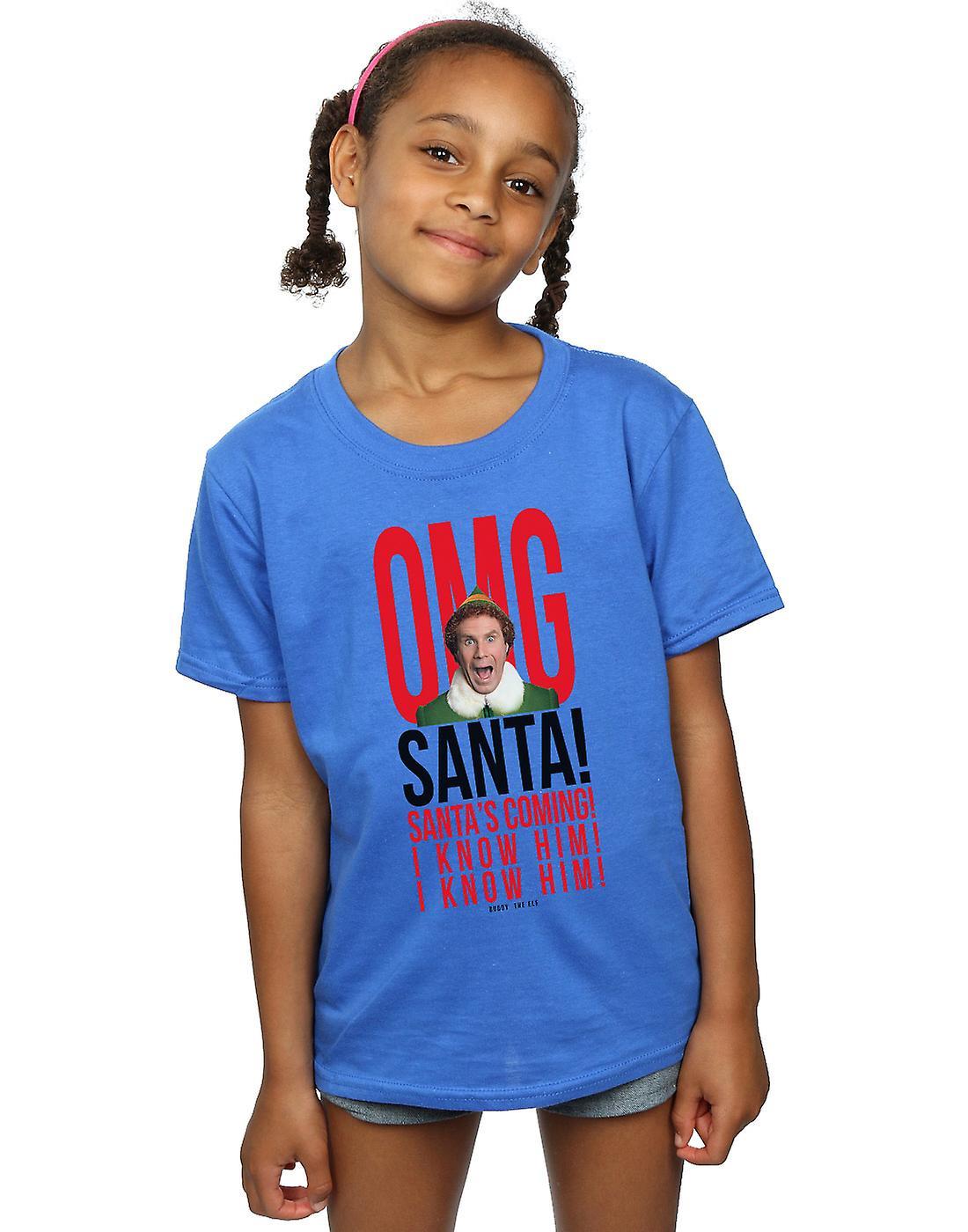 Elf Girls OMG Santa I Know Him T-Shirt