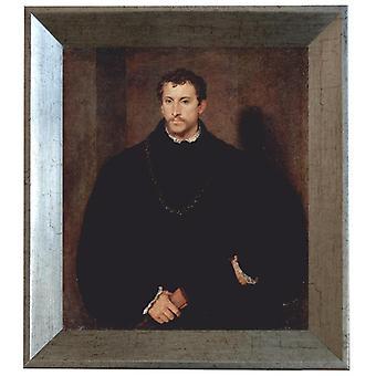 Avec Ram Portrait d'un gentleman, Titien, 61x51cm