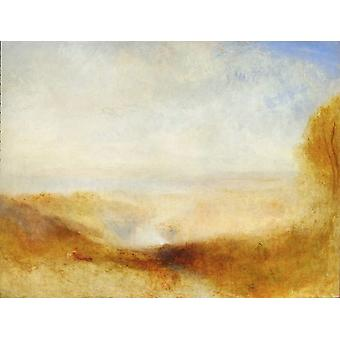 Paisagem com Juntion, Joseph Mallord William Turner, 50x40cm