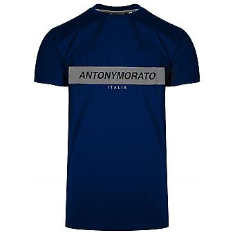 Antony Morato Sport Crew Neck Royal Blue Logo T-Shirt