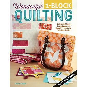 Wonderful One-Block Quilting by Choly Knight - 9781497200081 Book
