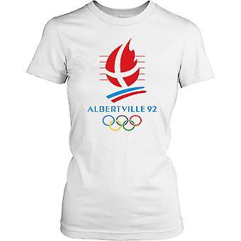 Albertville 92 - camisa de las señoras T de los Juegos Olímpicos de invierno