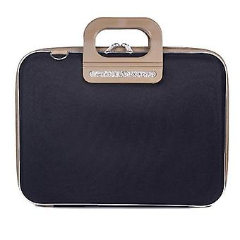 Bombata PRATO Briefcase by Fabio Guidoni Messenger Bag - 13 / Bicolor Black/Taupe