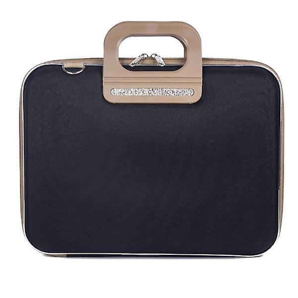 Bombata PRATO Briefcase by Fabio Guidoni Messenger Bag - 13 / Bicolor Black/Taupe