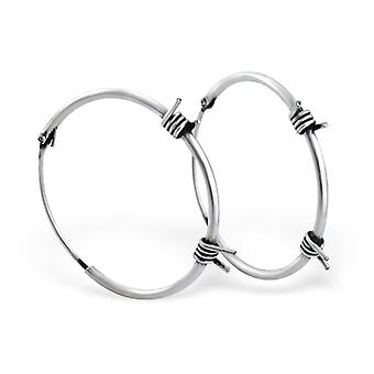 Bali - 925 Sterling Silver Ear Hoops - W1735x