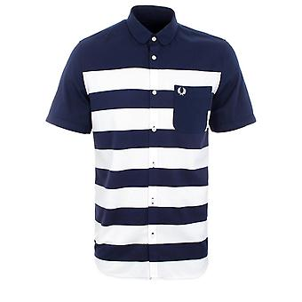 Fred Perry Pique Stripe mannen korte mouw Shirt M6705-226