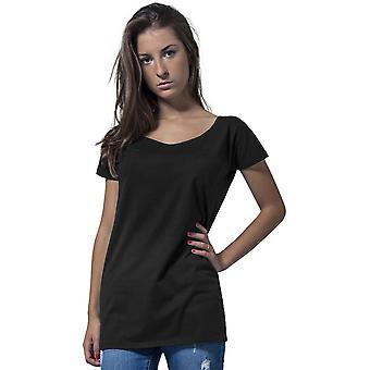 Cotton Addict Womens Wide Neck Cotton Short Sleeve T Shirt