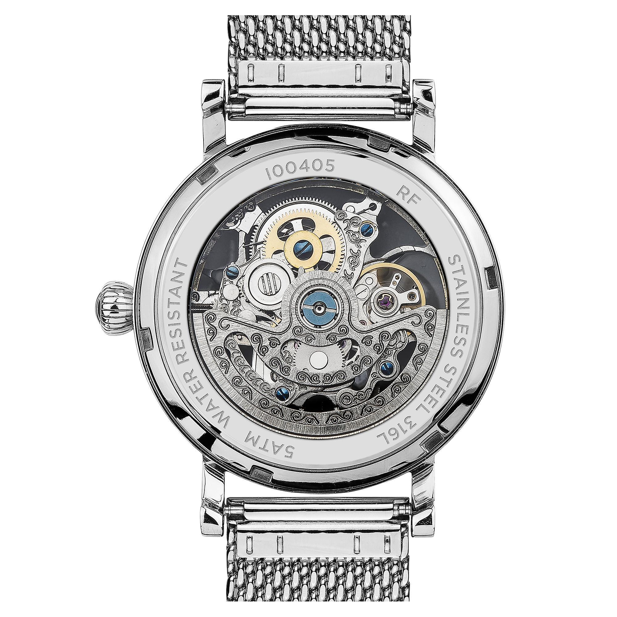 Ingersoll The Herald Automatic Skeleton Dial Milanese Steel Bracelet Ladies Watch I00405 40mm