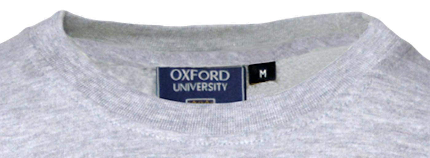 Unisex oxford university™ applique embroidery t shirt grey