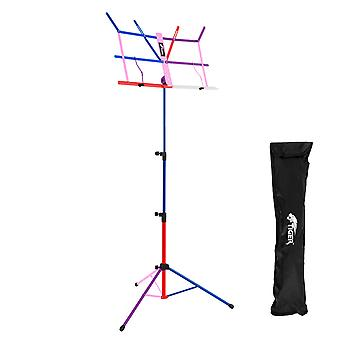 Tiger MUS56-CL Portable Easy Folding Sheet Music Stand with Bag -