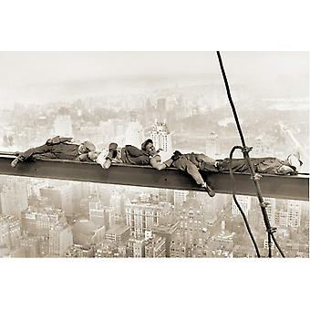 Poster - Studio B - 24x36 Sleeping above Manhattan Wall Art CJ1319