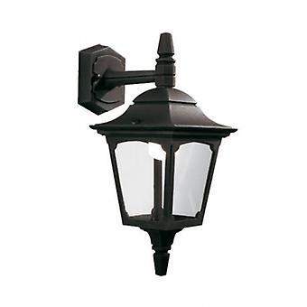 1 luce lanterna da parete esterna luce nero IP44