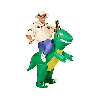 Dinosaur-Adult (lucht geblazen opblaasbare kostuum met hoed)