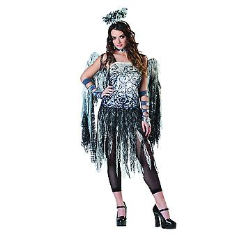 Womens Dark Angel Halloween Fancy Kleid Kostüm (Größe 8-10)