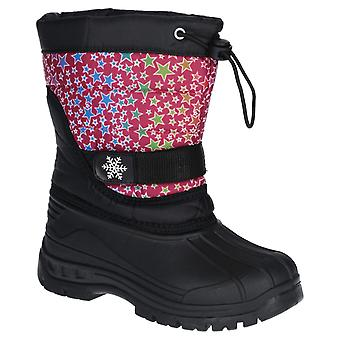 Cotswold Unisex Icicle Toggle Lace Snow Boot Pink