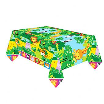 Amscan Jungle Friends Plastic Tablecover