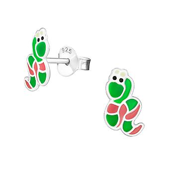 Snake - 925 Sterling Silver Colourful Ear Studs - W18684X