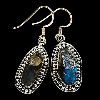 Rough Labradorite Earrings 1 5/8