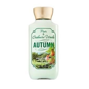 Bath & Body Works Pear & Cashmere Woods Autumn Body Lotion 8 fl oz / 236 ml (2 Pack)