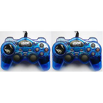 Kabalo 2 x blauw USB Gamepad Joypad Controller voor PC