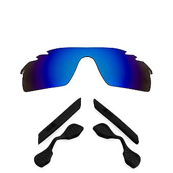 Polarized Replacement Lenses Kit for Oakley Vented Radarlock Path Blue Black Anti-Scratch Anti-Glare UV400 by SeekOptics