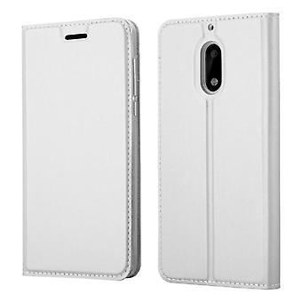 Cadorabo Hülle für Nokia 6 2017 Case Cover - Handyhülle mit Magnetverschluss, Standfunktion und Kartenfach – Case Cover Schutzhülle Etui Tasche Book Klapp Style