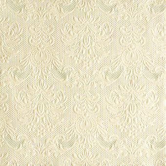 Ambiente 3 Ply Paper Napkins, Elegance Pearl Cream