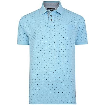 Kam Jeanswear Mens Tall Fit Dobby Dot Polo